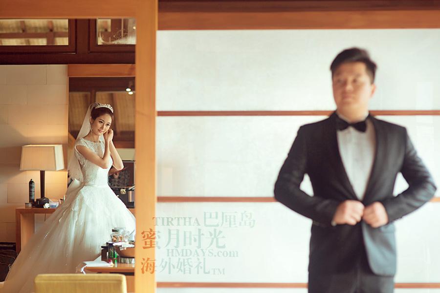 巴厘岛水之教堂婚礼+巴厘岛半日外景婚纱摄影|海外婚礼,水之教堂婚礼准备中|海外婚礼
