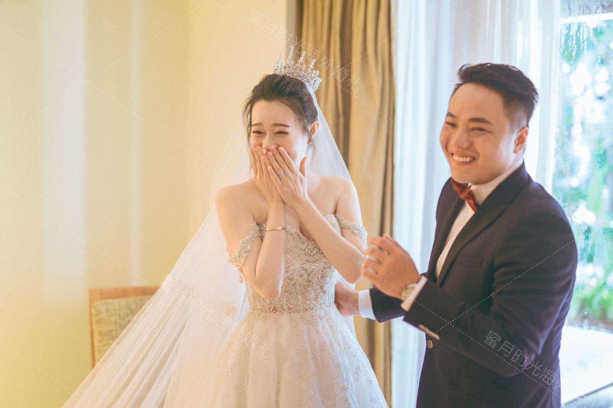 港丽无限教堂婚礼+升级布置|哇塞_今天我们就要在美丽的巴厘岛结婚了_好开心__好幸福|海外婚礼