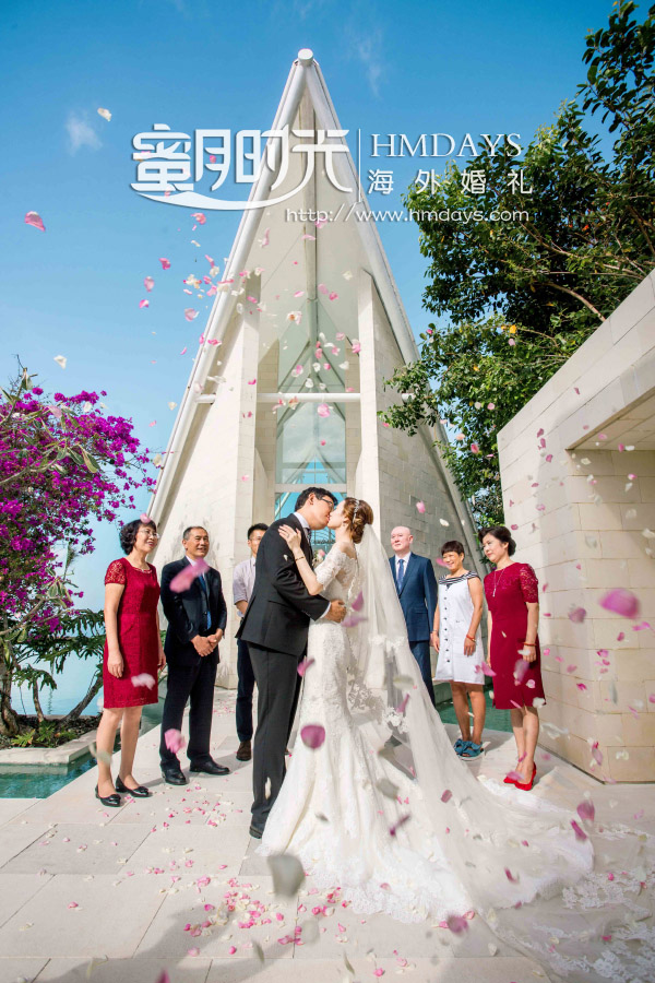 水之教堂婚礼+次日全天外景|海外婚礼巴厘岛水之教堂花瓣雨仪式|海外婚礼