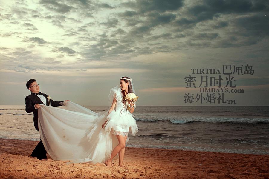 巴厘岛水之教堂婚礼+巴厘岛半日外景婚纱摄影|海外婚纱摄影,行走在KUTA沙滩|海外婚礼