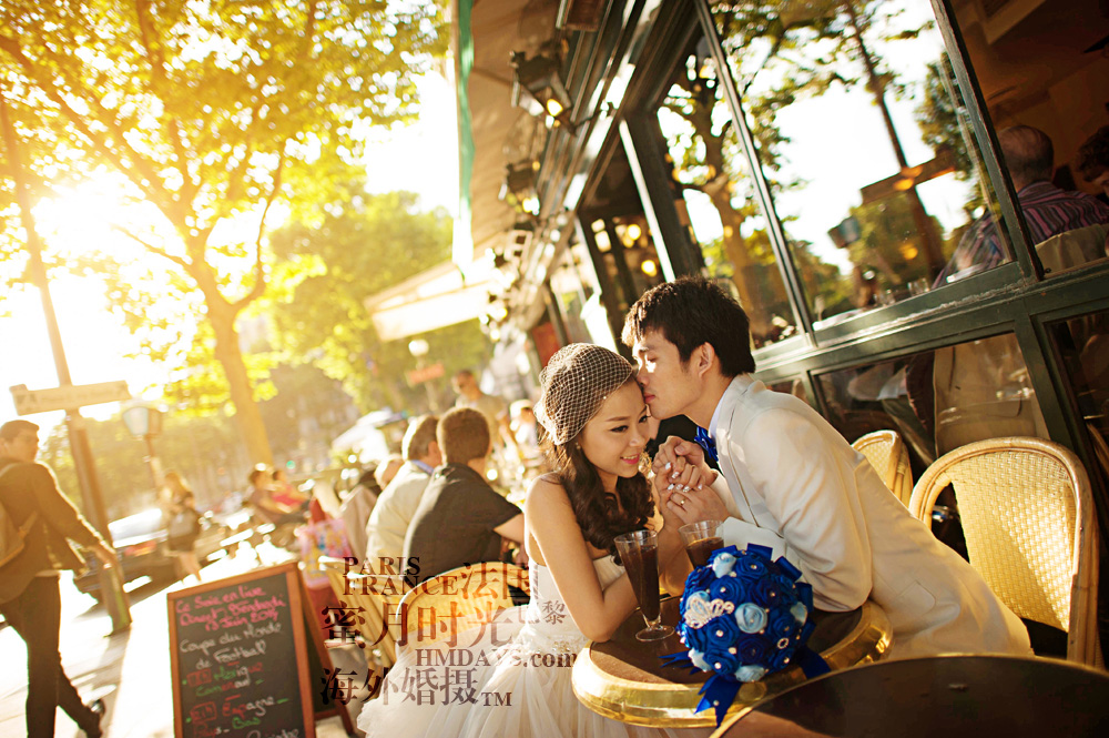 法国巴黎市区一日拍摄|hmdays婚纱摄影|海外婚礼