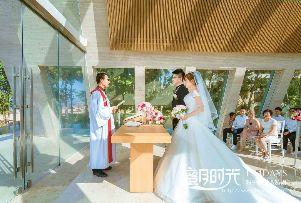 无限教堂婚礼+floating garden晚宴|无线教堂婚礼仪式中|海外婚礼