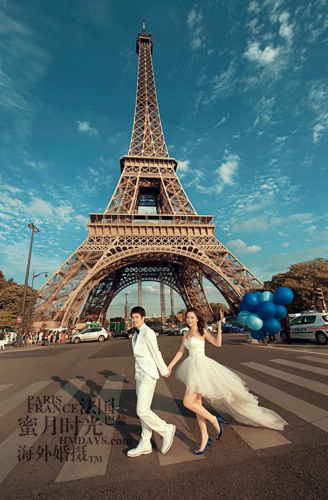 法国巴黎市区一日拍摄|爱情斑马线,在埃菲尔铁塔下|海外婚礼