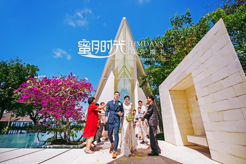 巴厘岛水之教堂婚礼+外景|海外婚礼花瓣雨仪式|海外婚礼