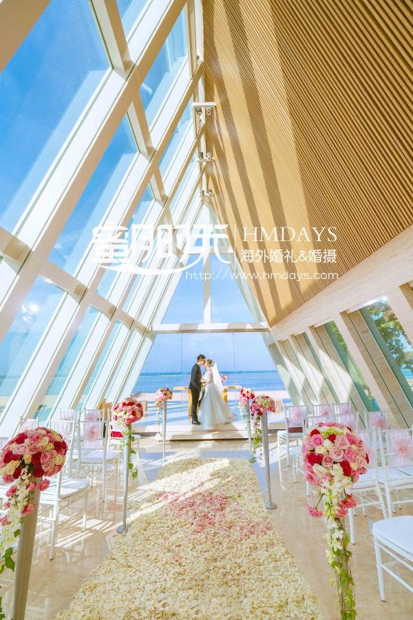 无限教堂婚礼+floating garden晚宴|巴厘岛教堂婚礼布置|海外婚礼
