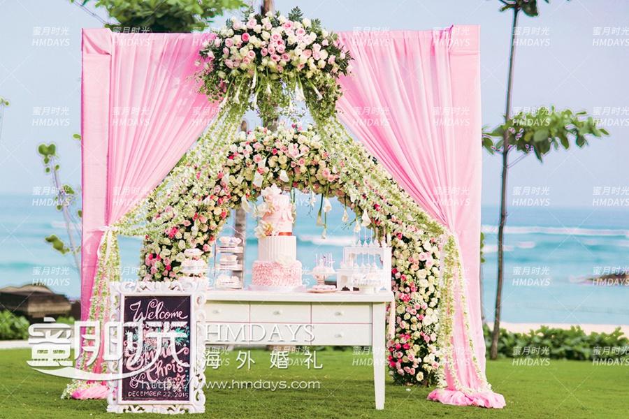 巴厘岛丽思卡尔顿教堂海外婚礼|甜品台布置|海外婚礼