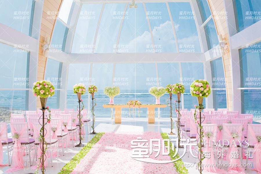 巴厘岛丽思卡尔顿教堂海外婚礼|利兹卡尔顿教堂内部图|海外婚礼