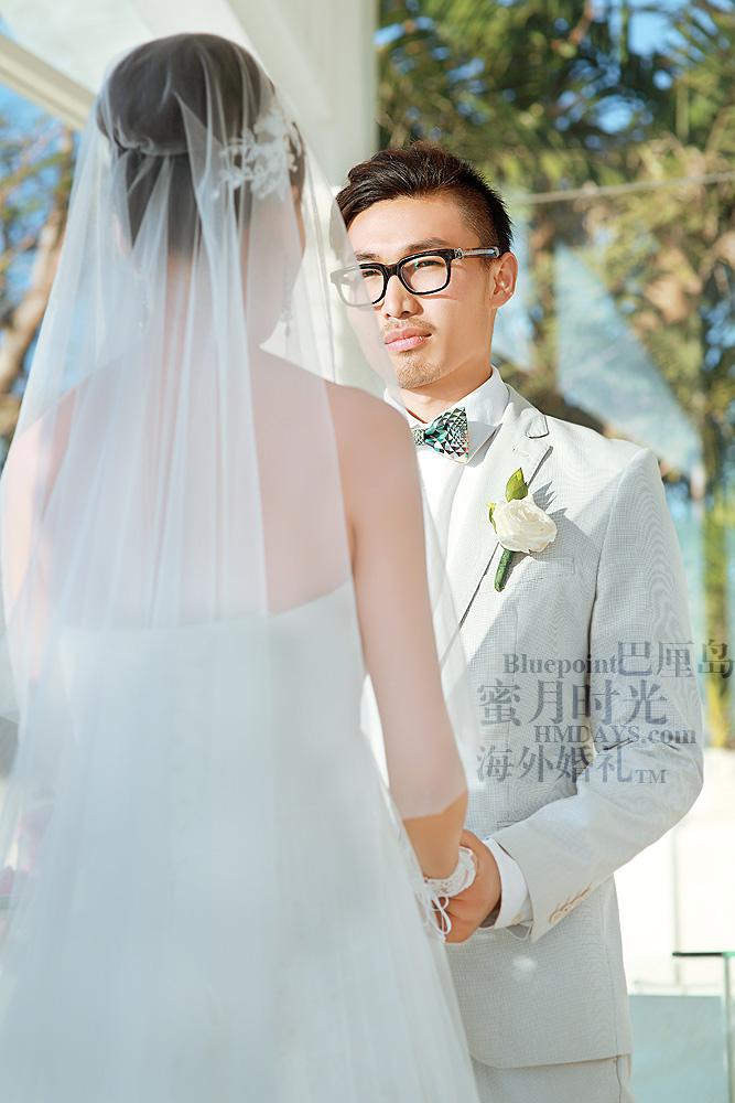 巴厘岛蓝点教堂婚礼--17:30档|蓝点教堂婚礼仪式中|海外婚礼