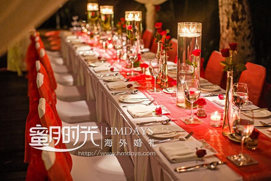 巴厘岛港丽无限教堂婚礼+肉桂晚宴|巴厘岛肉桂晚宴布置|海外婚礼