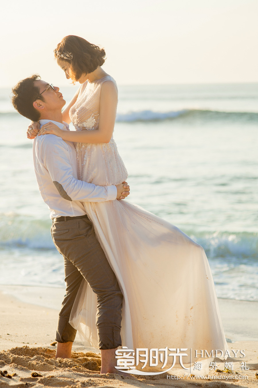蓝点教堂婚礼+3小时落日沙滩外景|海外婚礼|海外婚纱摄影|照片