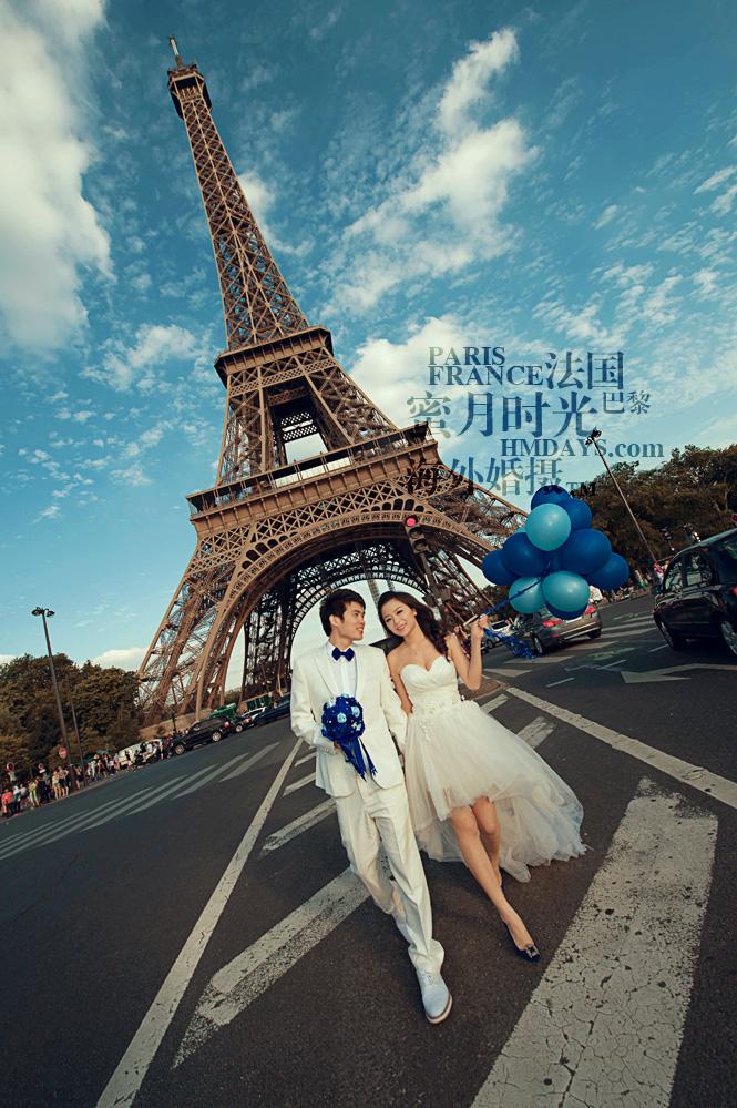 法国巴黎市区一日拍摄|法国巴黎婚纱摄影|海外婚礼
