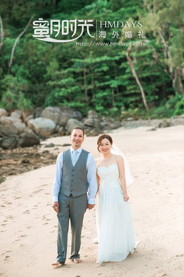 普吉岛纳卡海景草坪婚礼|婚礼的沙滩外景_狗粮又撒了一地啊|海外婚礼