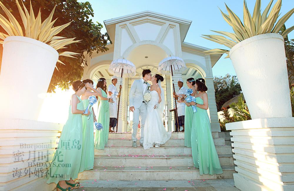 巴厘岛蓝点教堂婚礼--17:30档|花瓣雨下~|海外婚礼