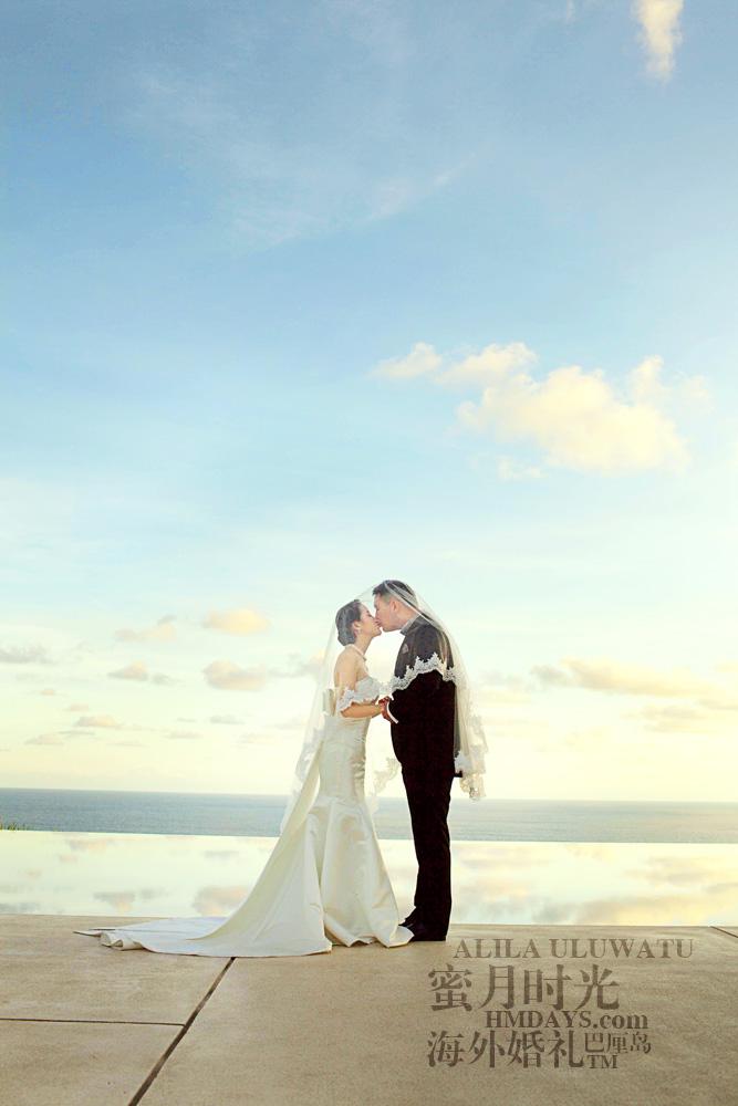 阿丽拉ALILA黄昏婚礼|阿丽拉无边泳池黄昏景色|海外婚礼
