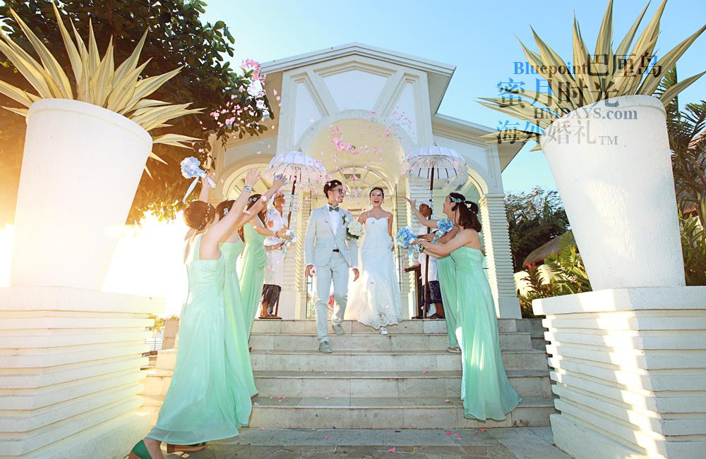 巴厘岛蓝点教堂婚礼--17:30档|花瓣雨仪式|海外婚礼