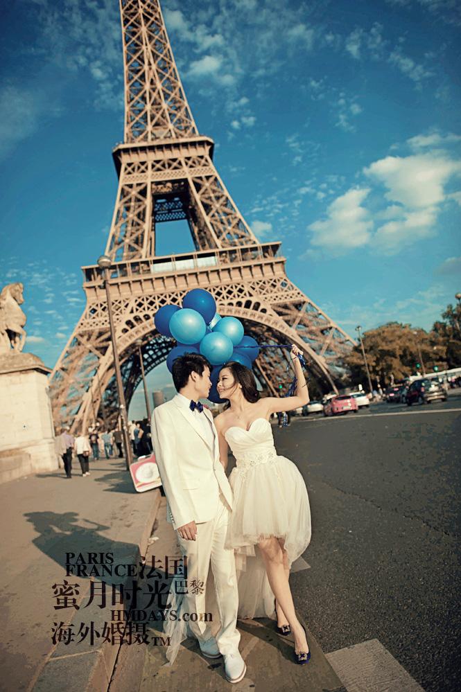 法国巴黎市区一日拍摄|埃菲尔铁塔婚纱照|海外婚礼