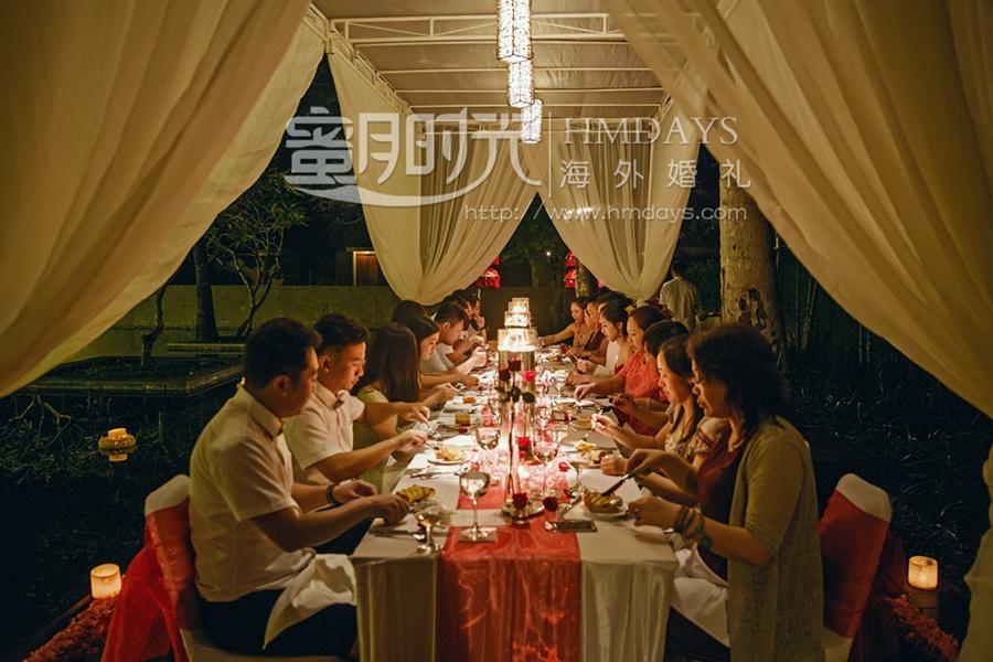 巴厘岛港丽无限教堂婚礼+肉桂晚宴|巴厘岛肉桂晚宴实拍布置|海外婚礼