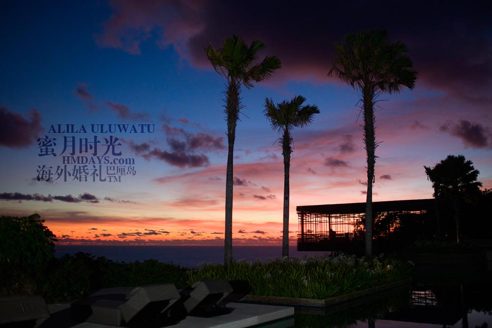 阿丽拉ALILA黄昏婚礼|黄昏中的巴厘岛景色|海外婚礼