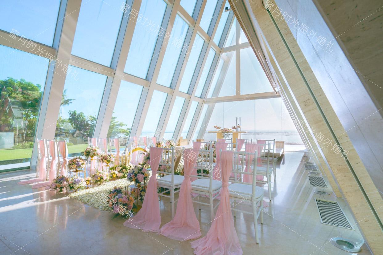 港丽无限教堂婚礼+升级布置|蜜月时光海外婚礼_升级仪式现场布置_粉色系列|海外婚礼