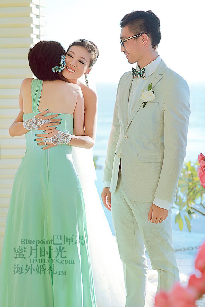 巴厘岛蓝点教堂婚礼--17:30档|感动,互道感谢|海外婚礼