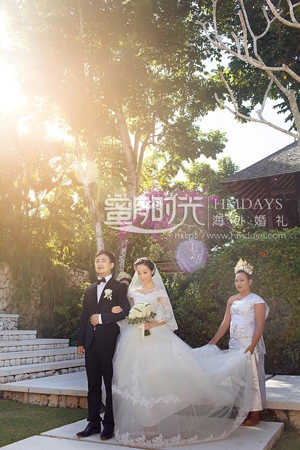 水之教堂婚礼 进入婚礼场地,水之教堂 海外婚礼