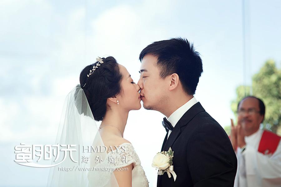 水之教堂婚礼 KISS在水之教堂 海外婚礼
