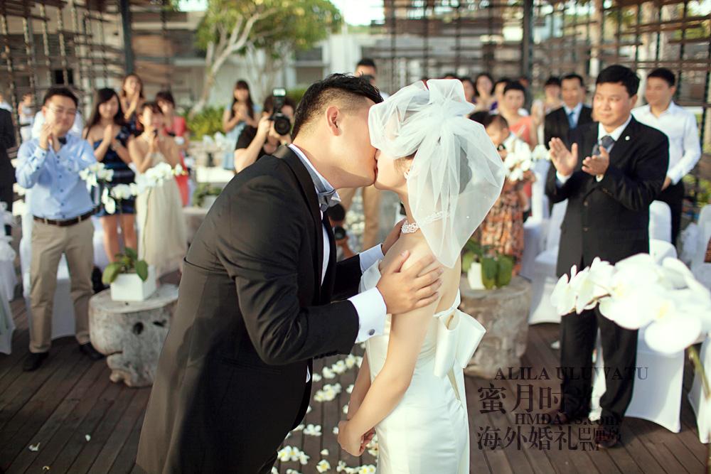 阿丽拉ALILA黄昏婚礼|礼成亲吻巴厘岛婚礼|海外婚礼