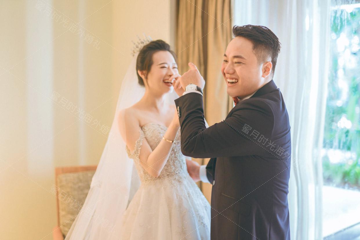 港丽无限教堂婚礼+升级布置|好开心的笑容_这属于我们哟|海外婚礼