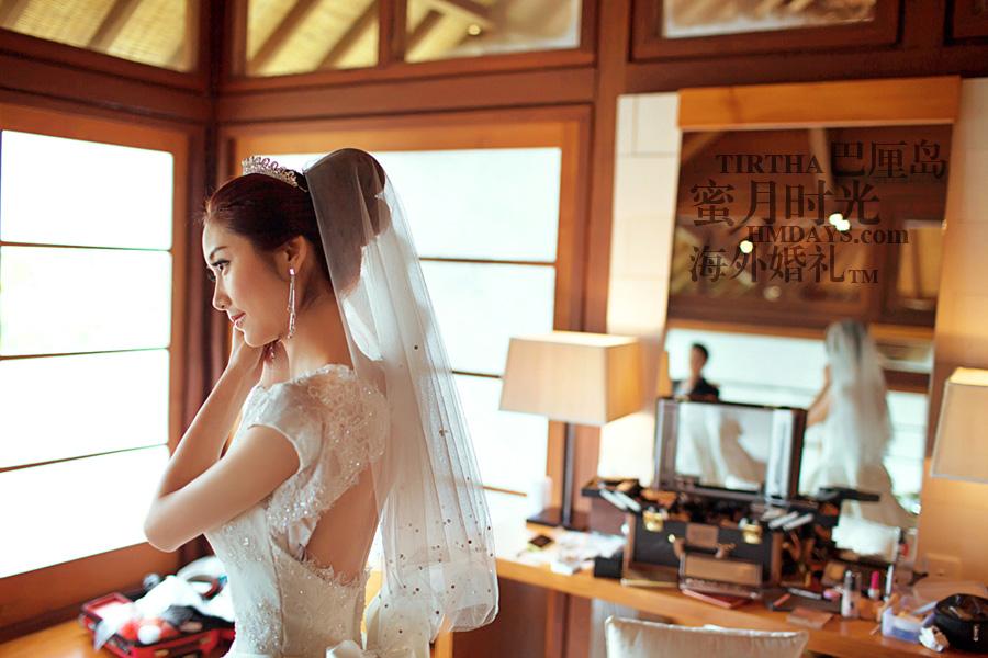 巴厘岛水之教堂婚礼+巴厘岛半日外景婚纱摄影|巴厘岛婚礼,水之教堂化妆间|海外婚礼