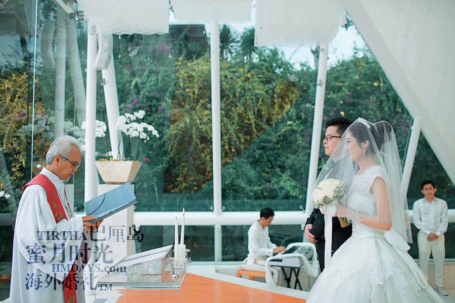 巴厘岛水之教堂婚礼+巴厘岛半日外景婚纱摄影|巴厘岛婚礼,水之教堂婚礼进行时|海外婚礼