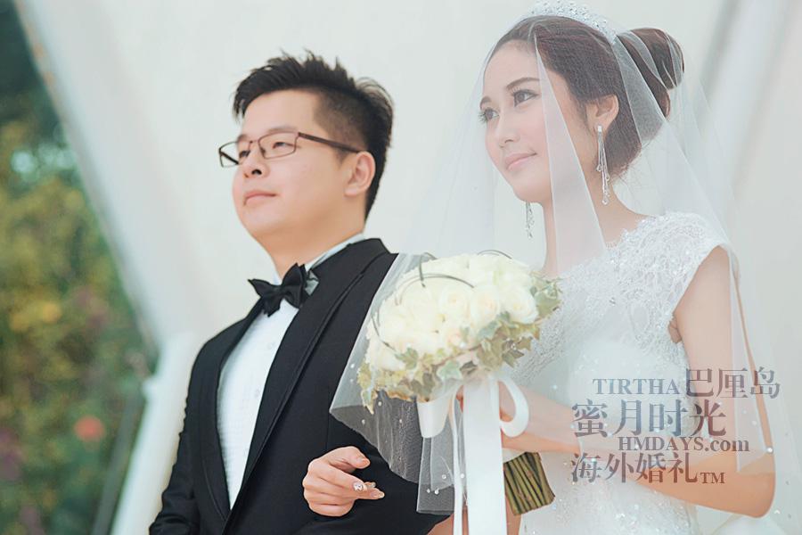 巴厘岛水之教堂婚礼+巴厘岛半日外景婚纱摄影|巴厘岛婚礼,婚礼仪式进行中,宣誓|海外婚礼