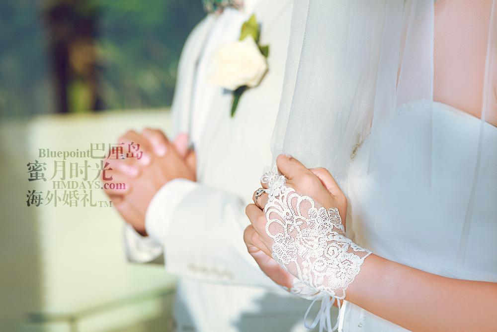 巴厘岛蓝点教堂婚礼--17:30档|宣誓中|海外婚礼