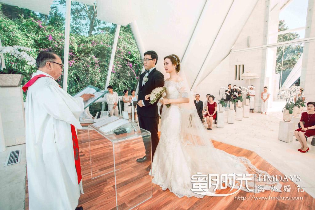 水之教堂婚礼+次日全天外景|巴厘岛水之教堂婚礼仪式中|海外婚礼