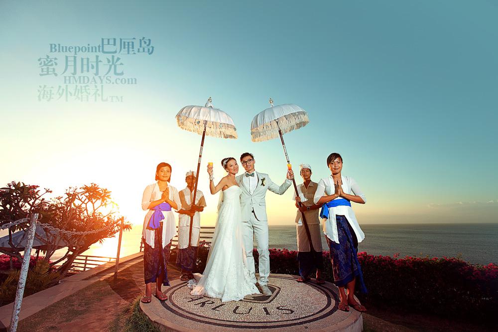 巴厘岛蓝点教堂婚礼--17:30档|无敌落日美景 无敌海景|海外婚礼