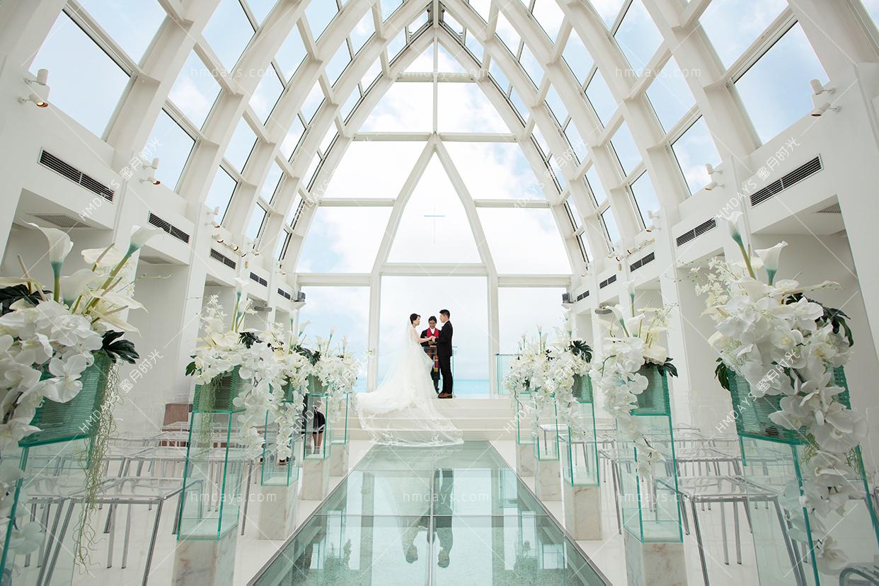 冲绳飞亚教堂婚礼 海外婚礼 海外婚纱摄影 照片