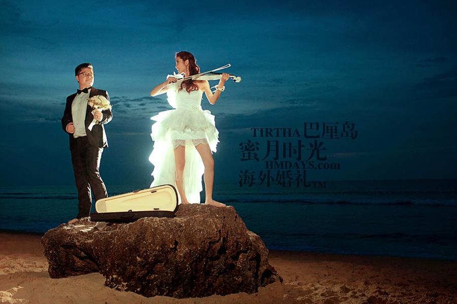 巴厘岛水之教堂婚礼+巴厘岛半日外景婚纱摄影|巴厘岛婚纱摄影,当音乐响起时|海外婚礼