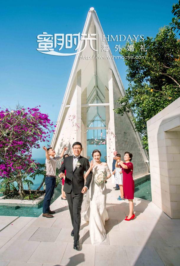 水之教堂婚礼+次日全天外景|巴厘岛水之教堂花瓣雨仪式|海外婚礼