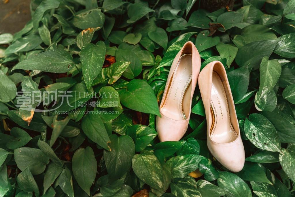 无限教堂婚礼+floating garden晚宴|婚鞋拍摄|海外婚礼