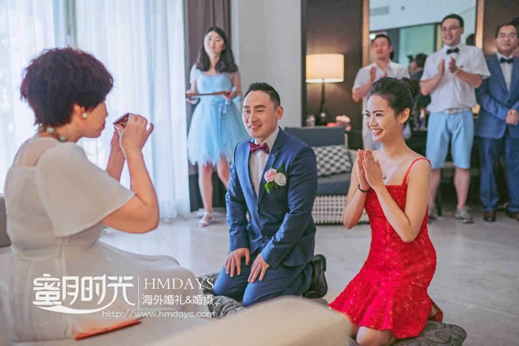 巴厘岛港丽无限教堂婚礼|海外西式婚礼中_如果想要加入一点中式的环节_敬茶_也就是改口茶_也可以这么操作|海外婚礼