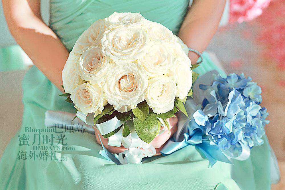 巴厘岛蓝点教堂婚礼--17:30档|玫瑰花球|海外婚礼