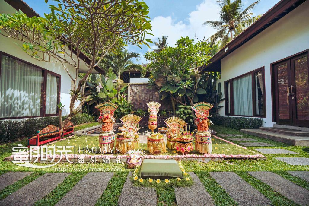 巴厘岛传统大婚婚礼婚纱照片|巴厘岛传统婚礼现场布置|海外婚礼