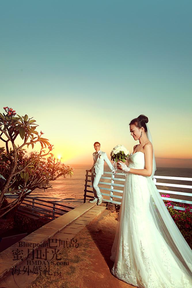 巴厘岛蓝点教堂婚礼--17:30档|海外婚纱照|海外婚礼