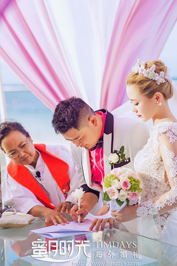 威斯汀沙滩婚礼|海外婚礼|海外婚纱摄影|照片