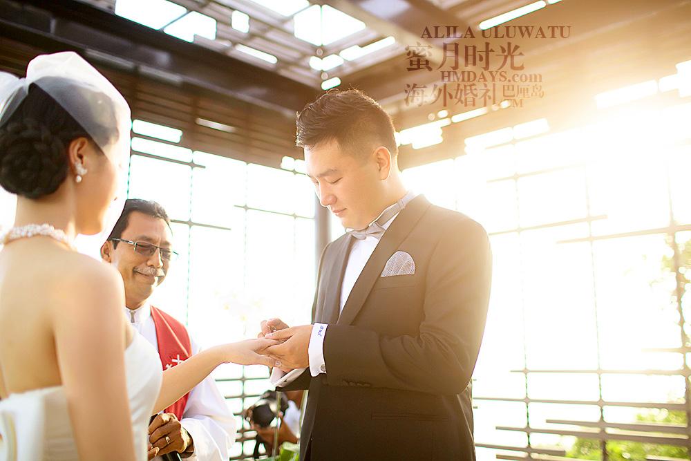 阿丽拉ALILA黄昏婚礼|阿丽拉婚礼仪式戒指交换|海外婚礼