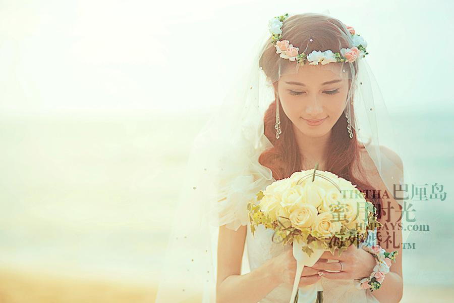 巴厘岛水之教堂婚礼+巴厘岛半日外景婚纱摄影|巴厘岛婚礼,美丽的新娘|海外婚礼