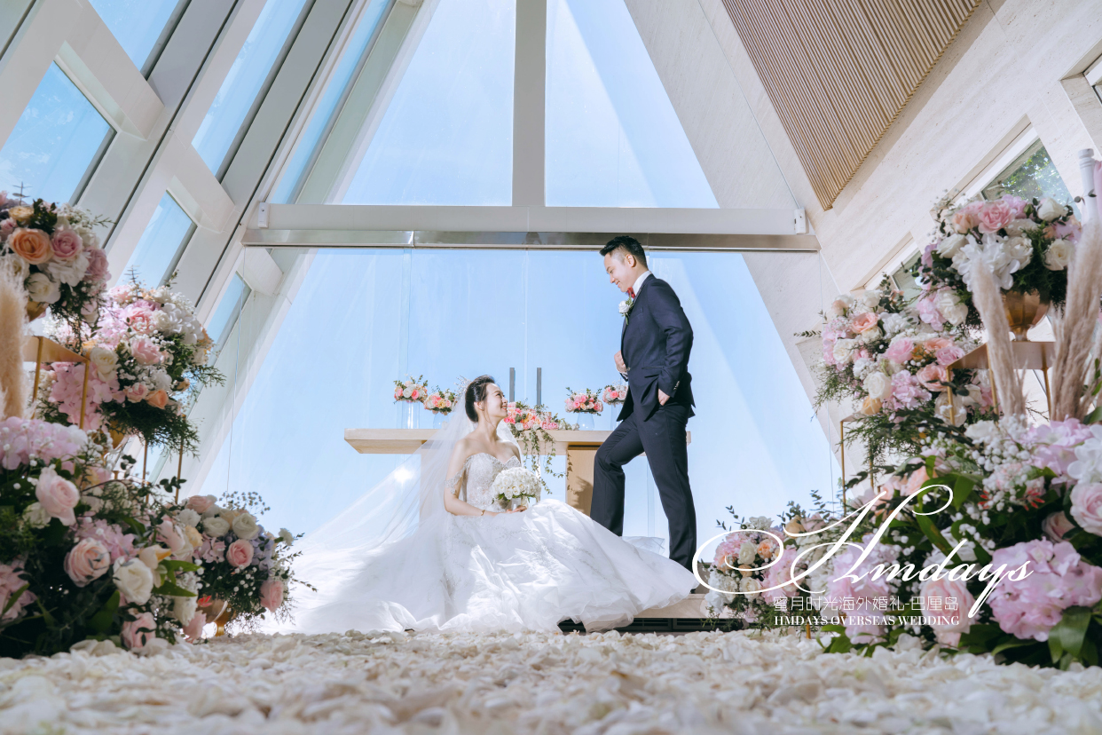 港丽无限教堂婚礼+升级布置|海外婚礼|海外婚纱摄影|照片