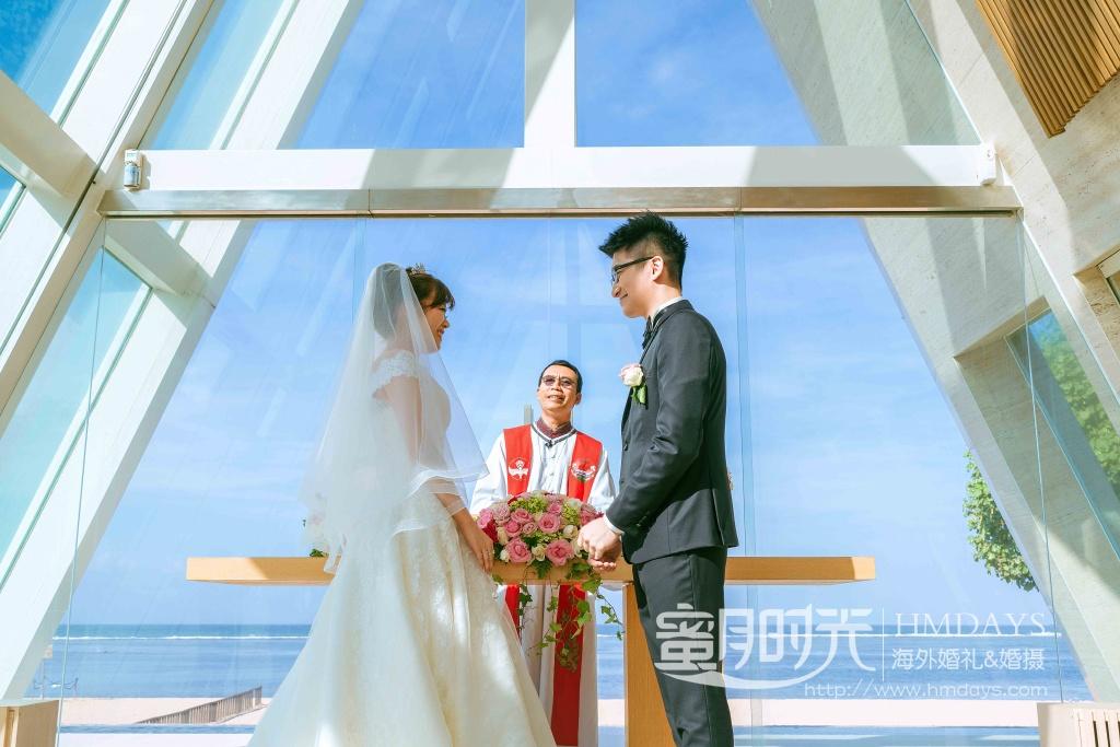 无限教堂婚礼+floating garden晚宴|巴厘岛康奈德教堂婚礼|海外婚礼