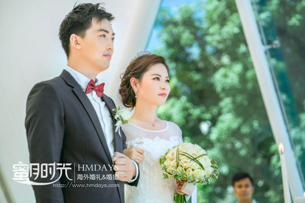 巴厘岛水之教堂婚礼(LY+SJW) 海外婚礼 海外婚纱摄影 照片