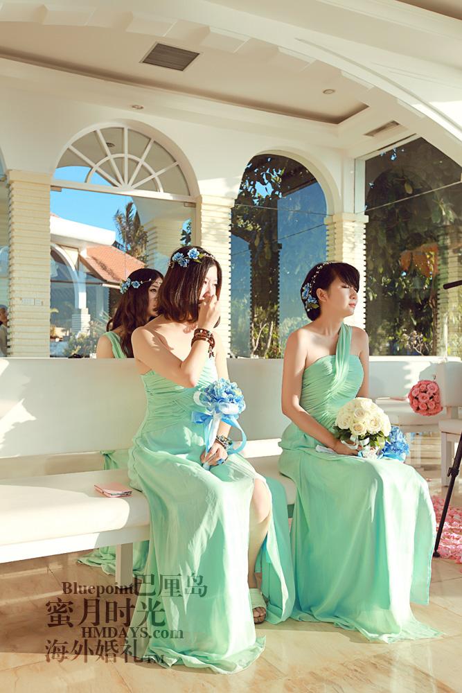 巴厘岛蓝点教堂婚礼--17:30档|伴娘感动中|海外婚礼