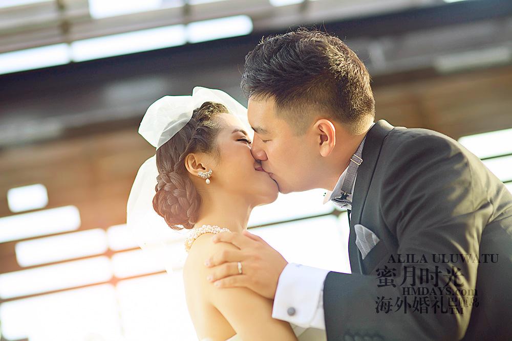 阿丽拉ALILA黄昏婚礼|新人幸福的亲吻瞬间|海外婚礼